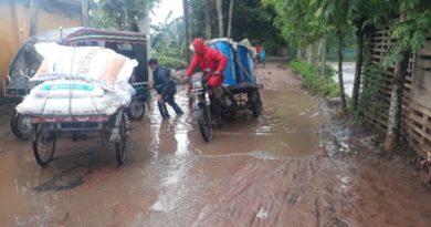 তালায় জাতপুর – খেজুর বুনিয়া রাস্তার বেহাল দশা
